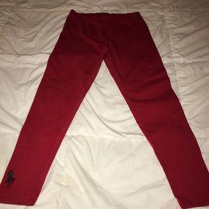 Girls Ralph Lauren red leggings